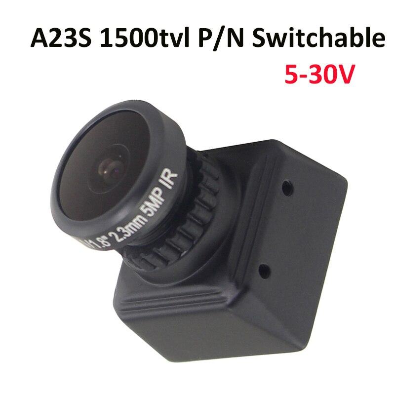 FPV Mini Câmera Atualizado de A23 A23S D1960H 5MP IR Lente 2.1 milímetros 2.3 milímetros 1/3