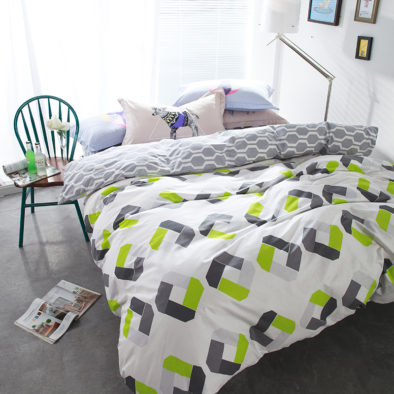 Pastoral bedding set Chirstmas gift 4pcs bedding duvet cover + flat sheet queen size bed ...