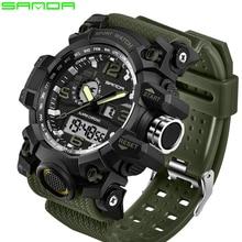 SANDA top luxury brand G style men's military sports watch L
