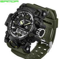 SANDA top marque de luxe G style hommes militaire sport montre LED montre numérique étanche montre pour hommes Relogio Masculino