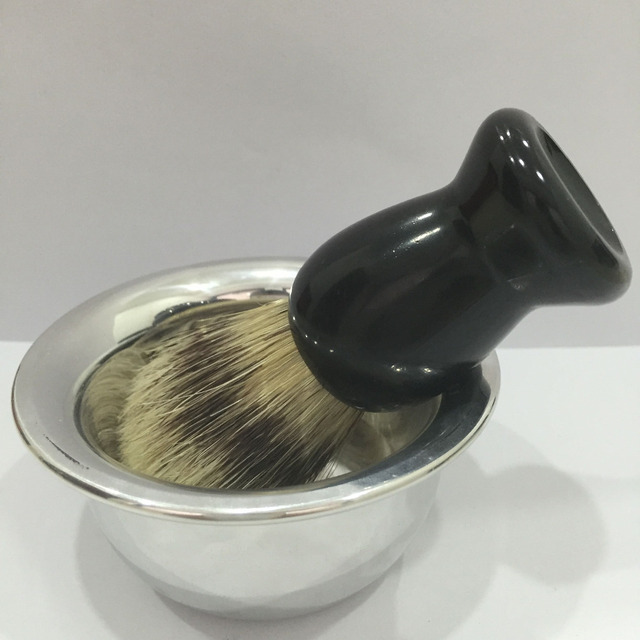 Badger Hair Shaving Beard Brush +Bowl Mug Dish Cup Set Barber Salon Men's Gift Face Beard Cleaning Health Care
