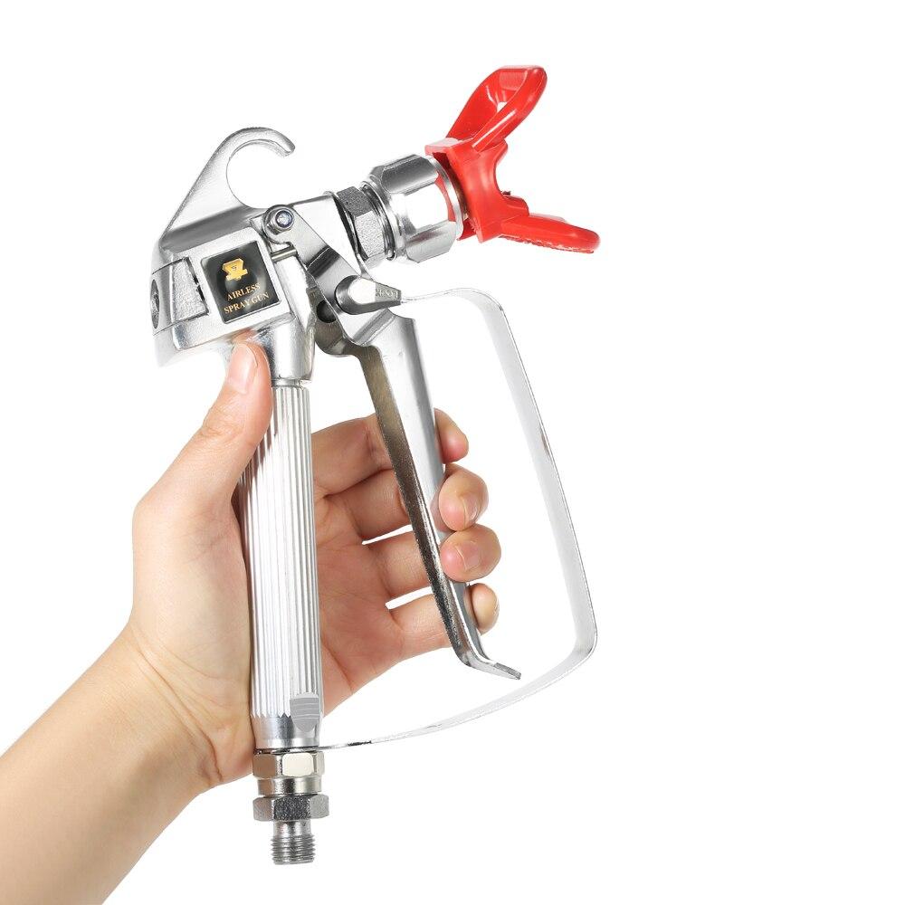 High Pressure Airless airbrush Paint Spray Gun With 517 Spray Tip Nozzle Guard Pump Sprayer Airless Spraying Machine power tool in Spray Guns from Tools