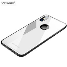 YWEWBJH For iphone X Case Plating Tempered Glass XS Max XR 8 7 Plus 6S Cover TPU Edge Cases