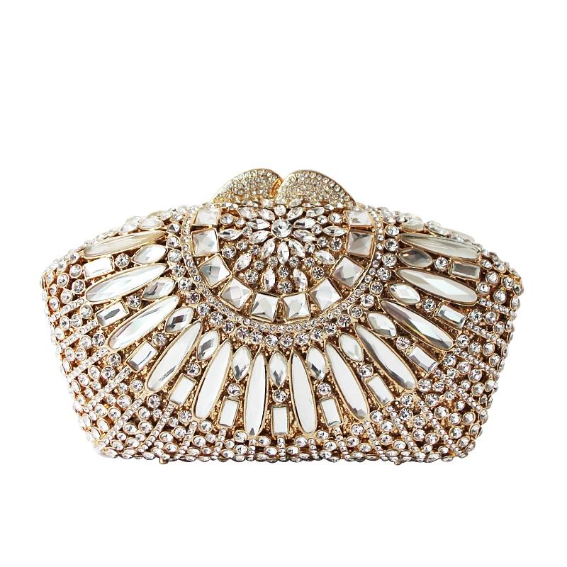 Pochette pour femmes sac à main de fête société collecte sacs à main de luxe diamant Dressing Banquet élégant robe de soirée sacs cadre - 5