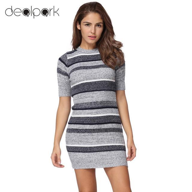 Short Sexy Sweater Dress