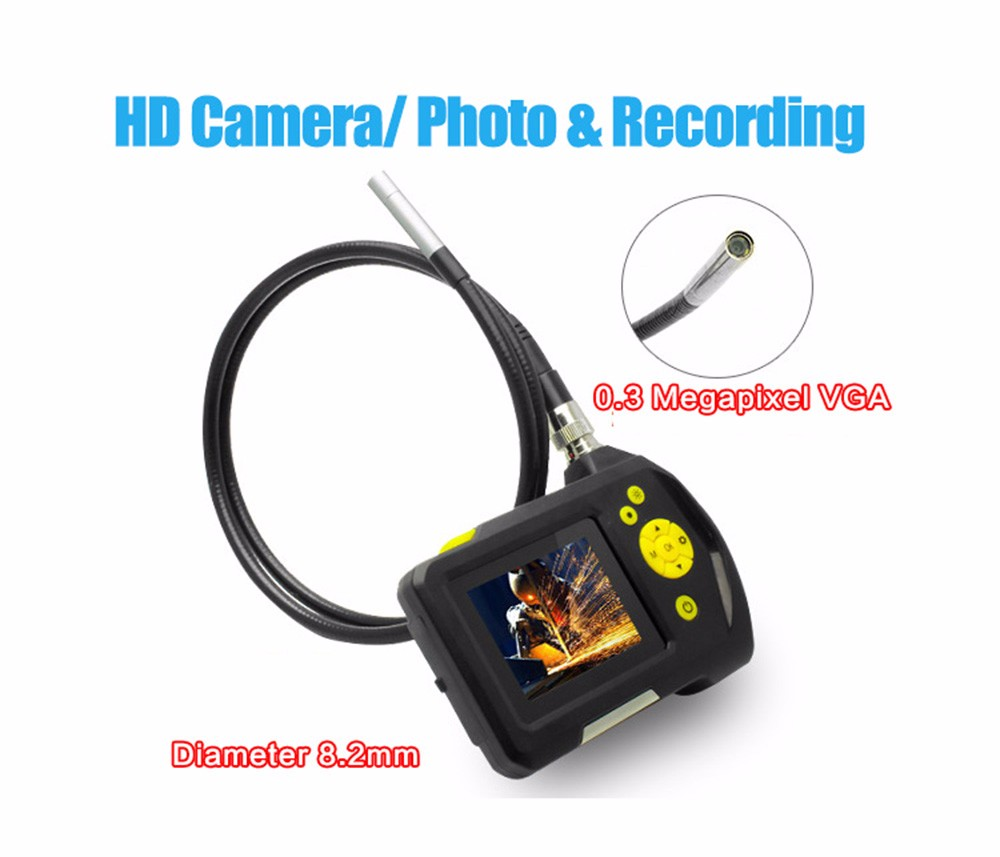 "Blueskysea Dia 8.2mm 1 Meters 2.7"" LCD NTS100 Endoscope Borescope Snake Inspection Tube Camera DVR"