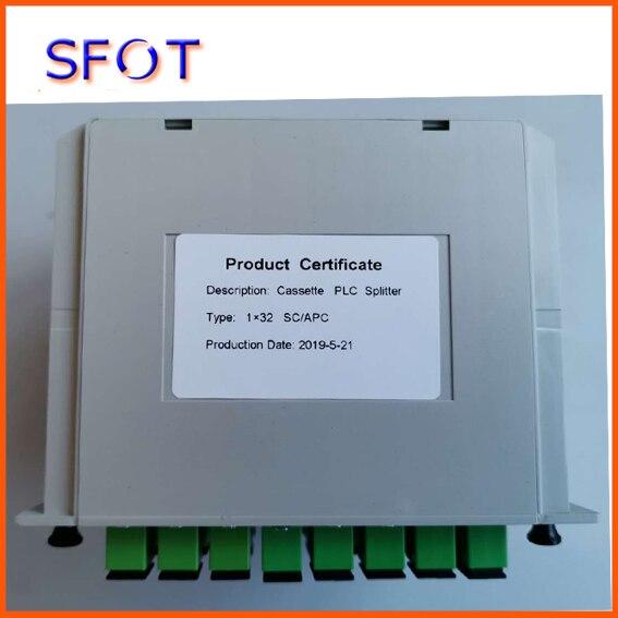 Séparateur optique de Fiber de PLC 1*16, type de Cassette, utilisé dans la boîte de FTTH, connecteur de SC/APC, 5 pièces beaucoup