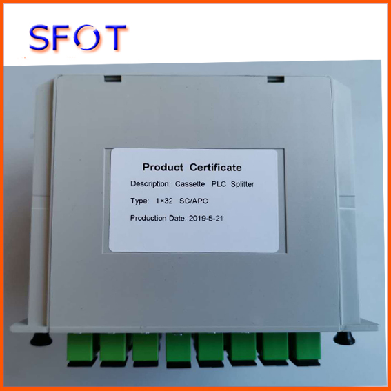 Séparateur optique de Fiber de PLC 1*32, type de Cassette, utilisé dans la boîte de FTTH, connecteur de SC/APC, 3 pièces beaucoup