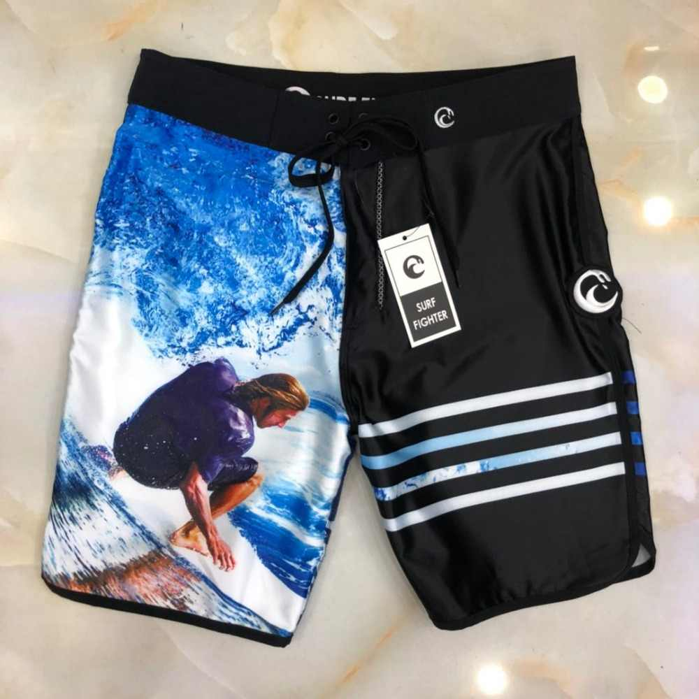 15792bcc4df06 2019 Surfing Print Shorts Men Board Shorts Brand Swimwear Men Beach Shorts  Men Bermuda Short Quick