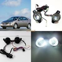 July King 1600LM 24W 6000K LED Light Guide Q5 Lens Fog Lamp+1000LM 14W Day Running Lights DRL Case for Nissan Primera 2001 ON