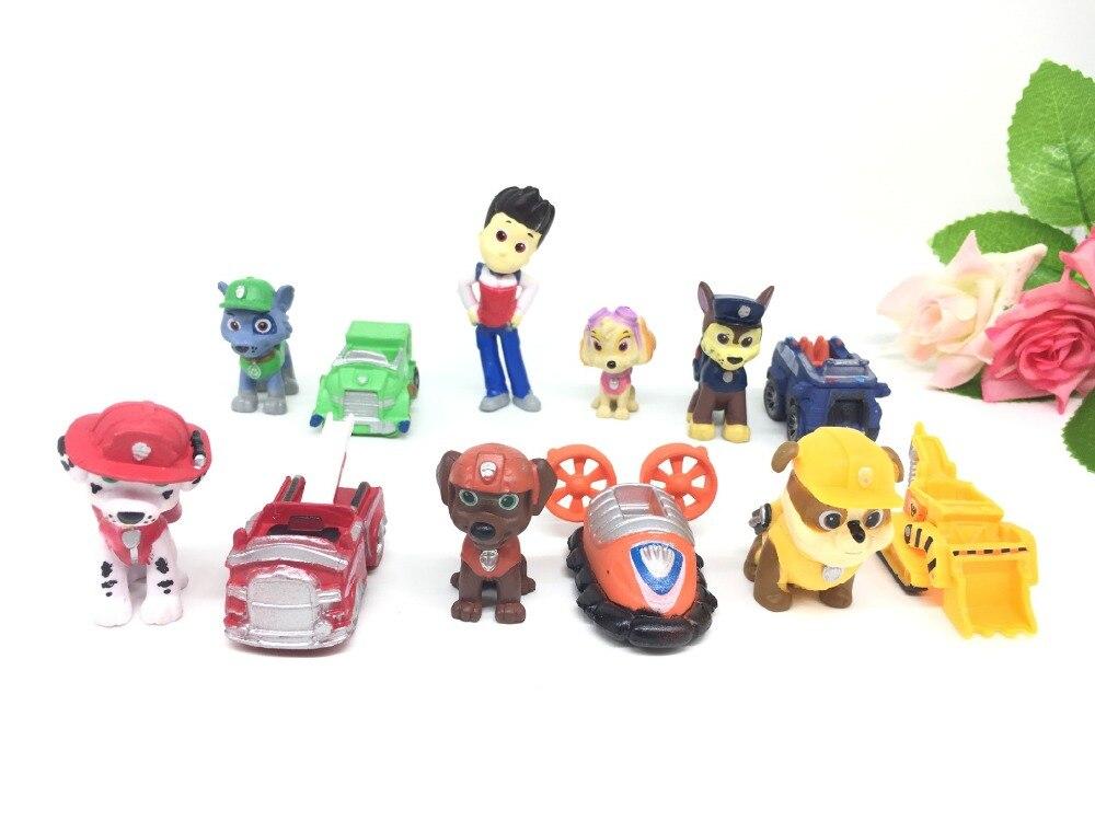 Kids Toys Action Figure: 12Pcs/set Anime Toys Kids Toys New Dog Patrol Cartoon