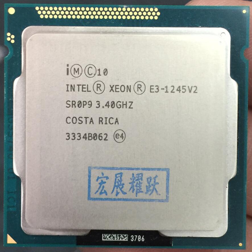 Intel Xeon Processeur E3-1245 V2 E3 1245 V2 PC Ordinateur De Bureau CPU Quad-Core Processeur LGA1155 Bureau CPU