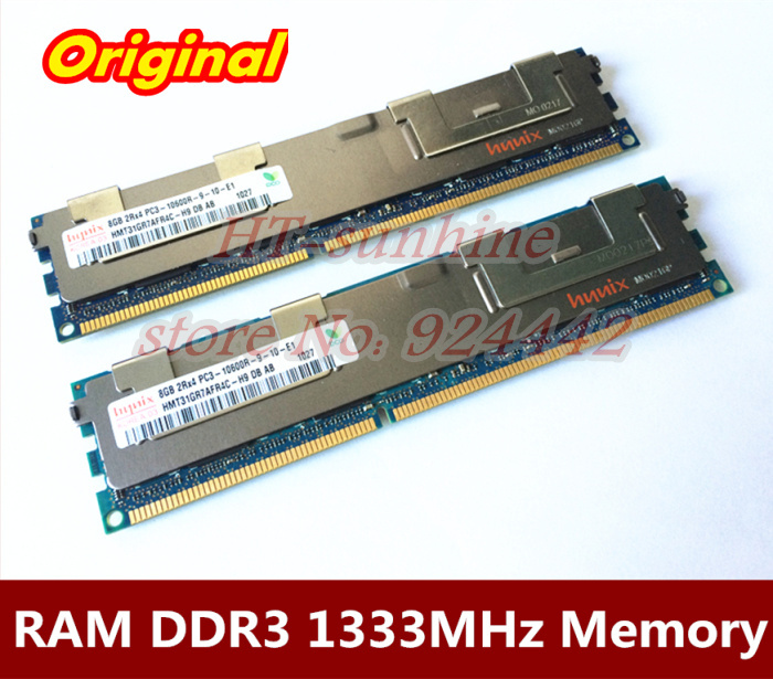 Original Server memory 2 x 8GB DDR3 1333MHz REG ECC PC3-10600R 16GB RAM compatible X3100 M4,X3250M3,DL680G7,DL380G6,DL580G7