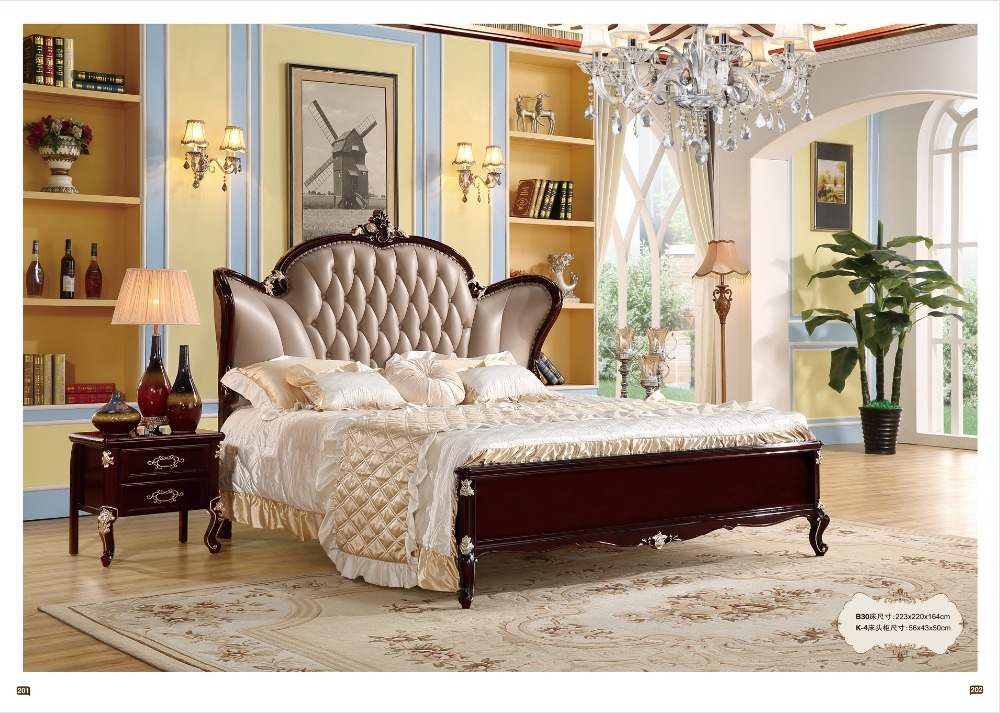 Furniture Bedroom Furniture Modern European Elegant Noble Style King Size Round Bed Price Traveling