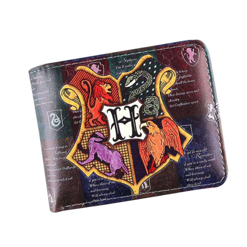 New High Quality Harry Potter Womens Wallets And Purses Short Leather Men Anime Magic Wallets Cards Zipper Coins bolsas feminina купить