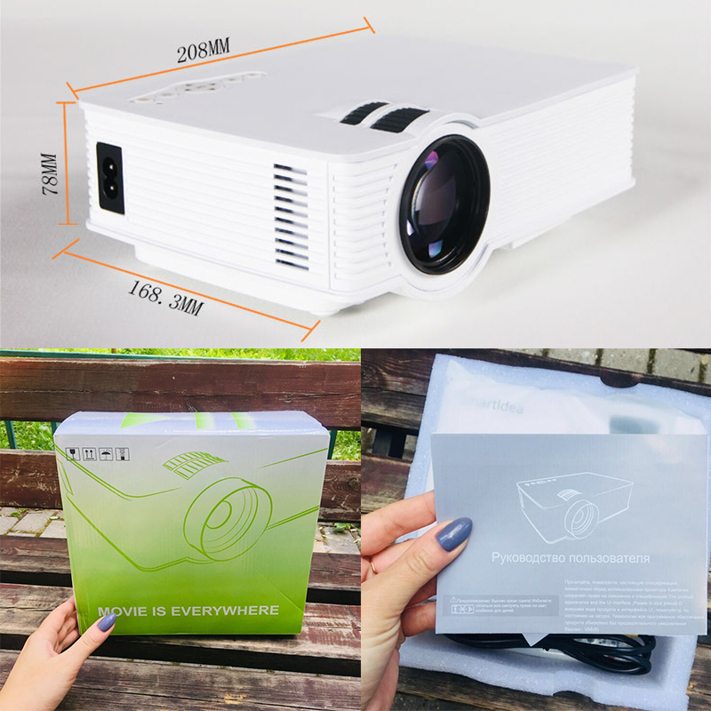 Image 3 - S90 S90wifi (Android 6.0) Mini LED Home Cinema Projector WiFi 1800lumens Multimedia LCD Proyector 3D Beamer Support AC3 HD 1080P-in LCD Projectors from Consumer Electronics