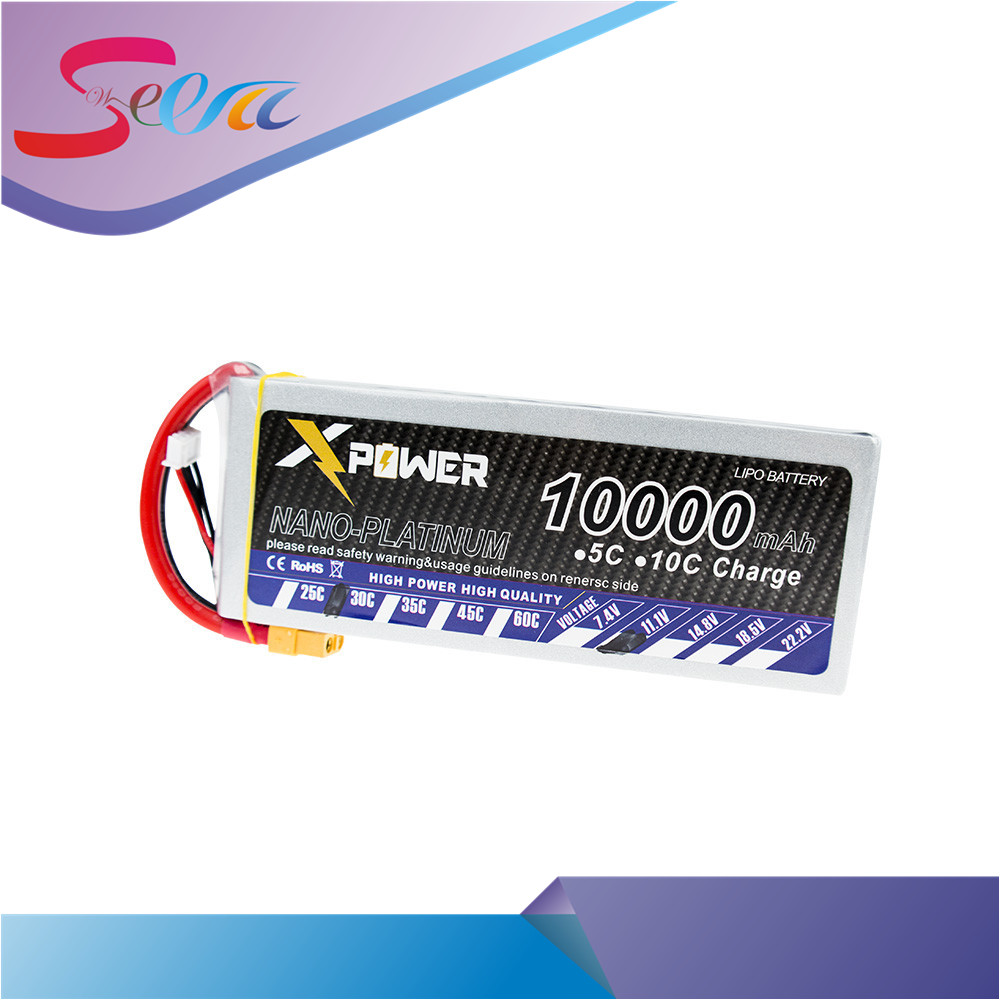11.1V 10000mAh 3s lipo battery 30C Xpower batteries XT60 EC5 XT90 T plug for RC Helicopter Quadcopter drone part 1pcs lipo battery 7 4v 2000mah 30c t banana xt60 plug upgrade lipo battery for syma x8c x8w quadcopter free shipping