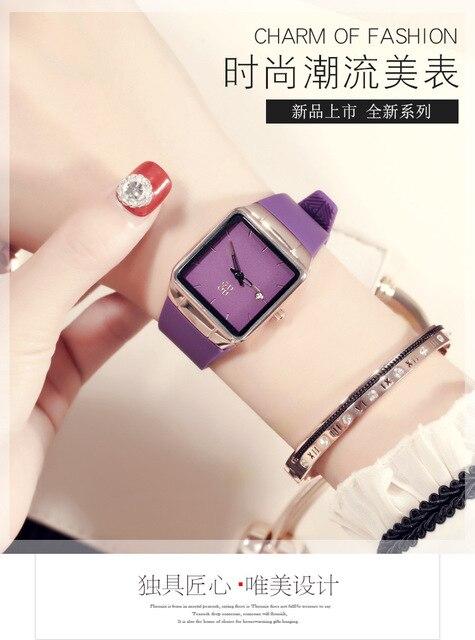 8a03f70dff4 HK relógio Guou Marca ultrafinos Moda feminina estudante de Presente de Luxo  relógio Quadrado minimalista Coreano