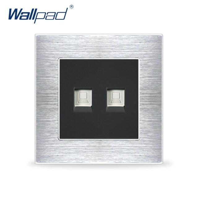 Dual Computer Socket Network Data Sockets Wallpad Luxury Satin ...