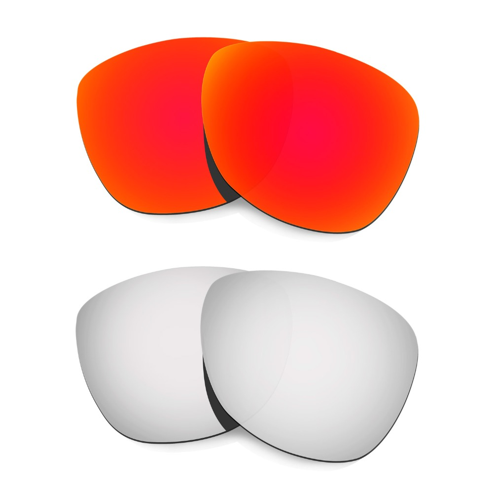 are oakley frogskins polarized ojby  HKUCO For Oakley Frogskins Sunglasses Polarized Replacement Lenses  Red/Silver 2 PairsChina