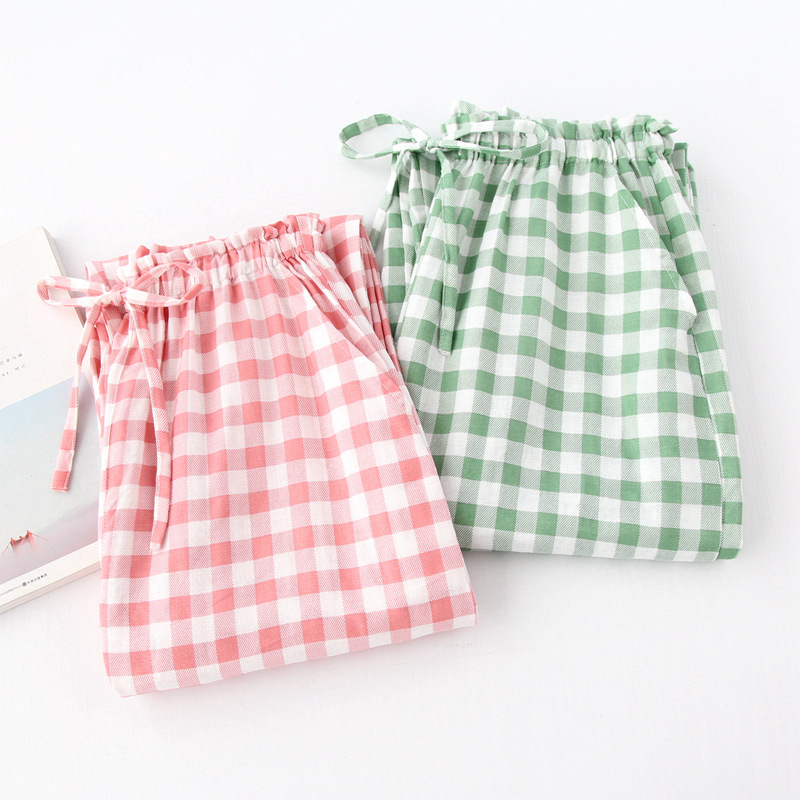 Women\\\'S Trousers In Large Sizes Pants For Women Spring Summer Plaid Pajama Pants Sleep Bottoms Cotton Lounge Pants