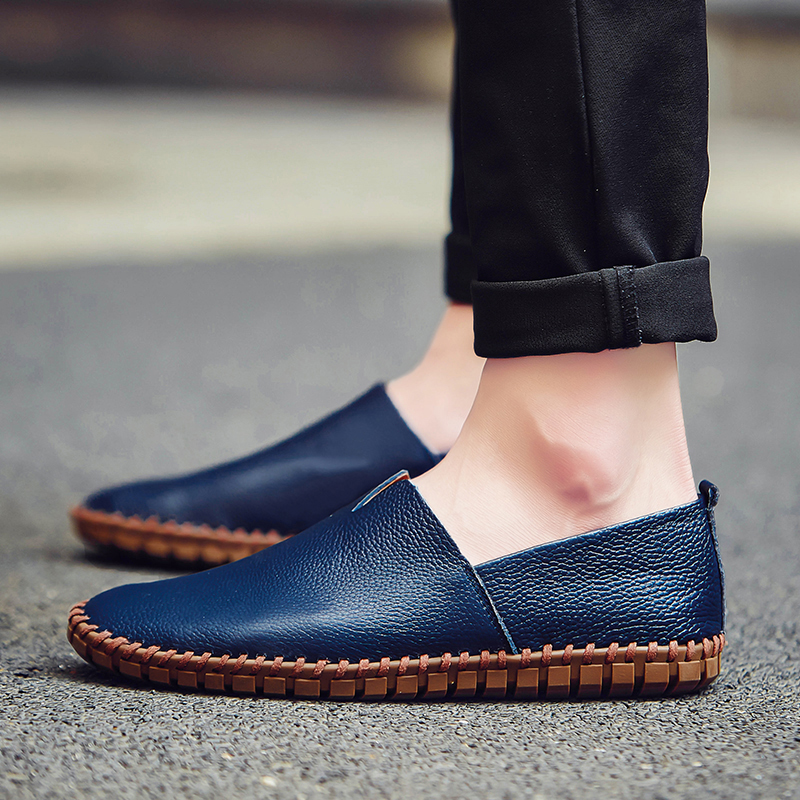 NORTHMARCH Men Leather Shoes Mens Loafers Fashion Driving Shoes Handmade Soft Breathable Moccasins Men Slipe On Flats Shoes handmade men flats shoes plus size loafers moccasins genuine leather mens casual driving shoes soft breathable comfortable flats