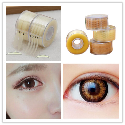 600pcs=300 Pair 4 Styles Invisible Eyelid Stiker Lace Eye Lift Strips Double Eyelid Tape Adhesive Stickers Makeup Tool