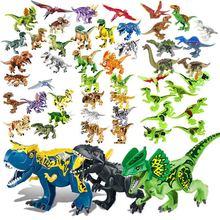 Jurassic Dinosaur Set Building Block Toy Figure Indoraptor Velociraptor Triceratop Indomirus T-Rex World