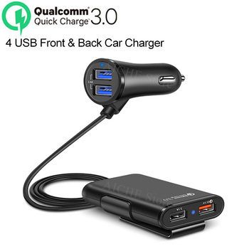 4 Ports QC 3.0 USB Fast Car Charger stickers Accessories for BMW e46 e90 e39 e60 e36 f30 f10 m e87 f20 x5 e53 e30 e91 2005-2019 image