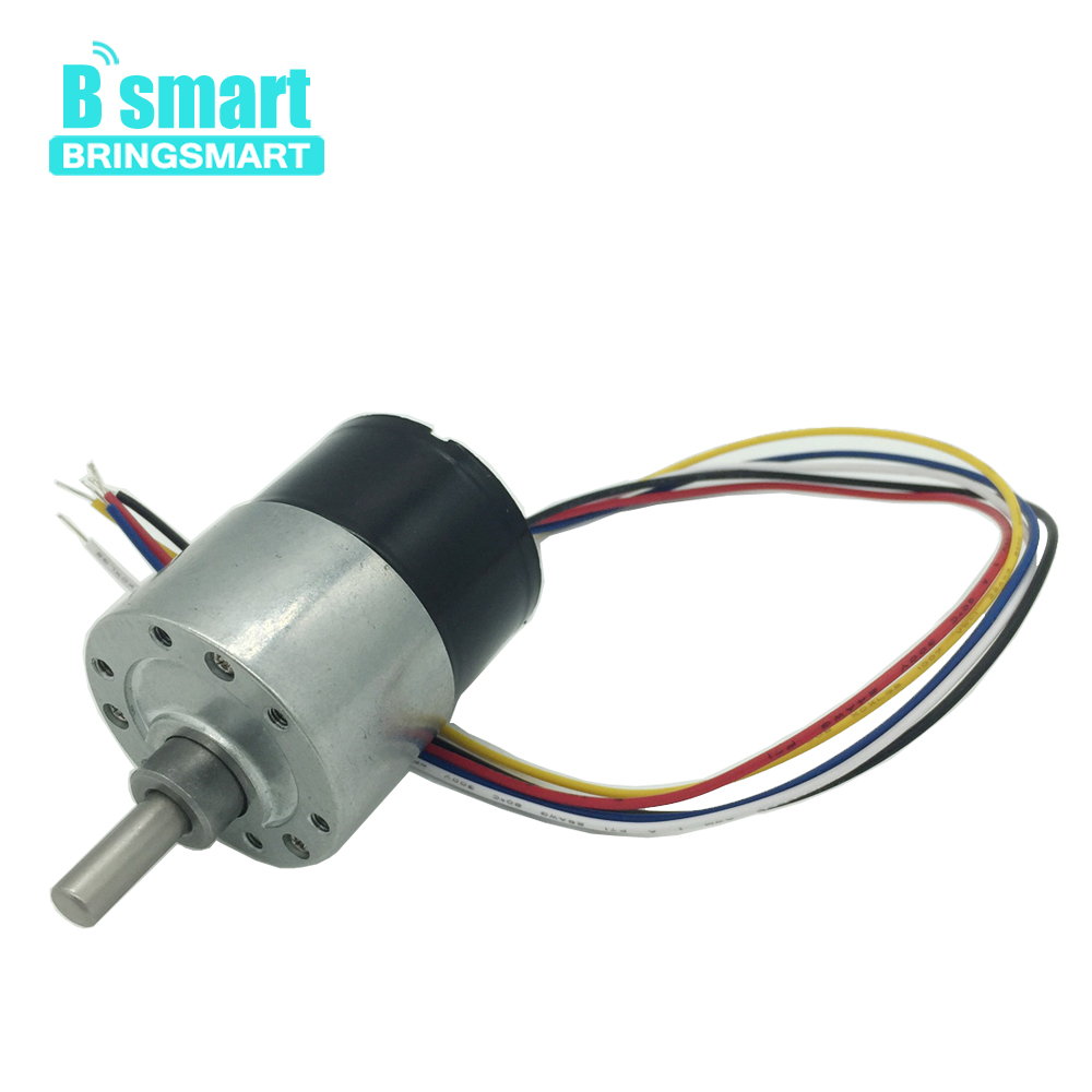 Bringsmart JGB37-3625 Brushless DC Motor 12v Adjustable Speed 4-480rpm Reversed Controllable DC24v Motor With Mini Metal GearboxBringsmart JGB37-3625 Brushless DC Motor 12v Adjustable Speed 4-480rpm Reversed Controllable DC24v Motor With Mini Metal Gearbox