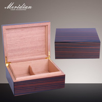 Cuban Cigar Humidor Box With Natrual Cedar Wood For 25ct Cigars Two Interval Insert Ebony Veneer