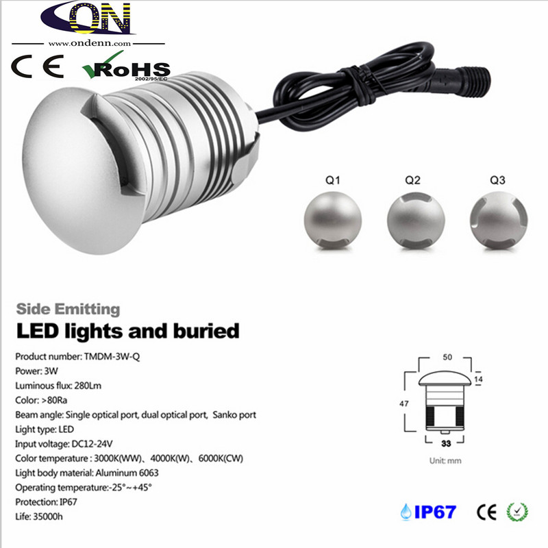 Led Underground Lamps Ip67 3w 12v Led Underground Light Lamp Outdoor Landscape Lighting Recessed Spot Light Kit Patio Pavers Led Floor Deck Stair Lamp Lights & Lighting