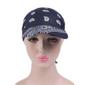 2019 frauen Indien Muslimischen Retro Floral Baumwolle Handtuch Kappe Krempe Turban Baseball Hut Wrap sommer sonne hüte für frauen hut großhandel 3,8