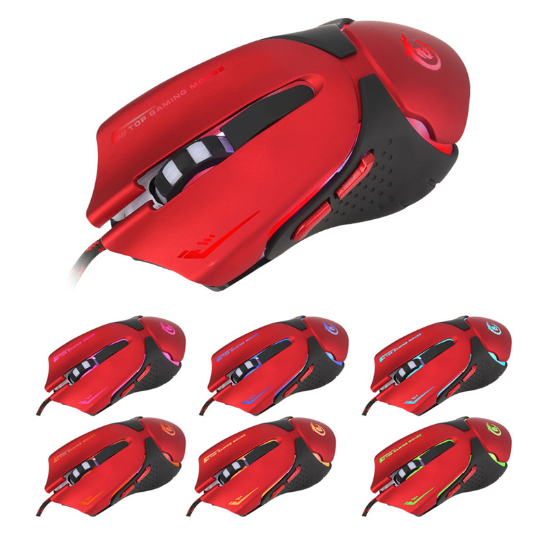 Gaming Mouse LED Optical USB Wired 3200 DPI Pro Gaming Mouse For Laptop PC Game thumbnail