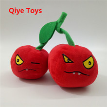 Cotton Cute Plant Vs Zombies Series Plant Double Cherry Bombs Plush Toy Doll