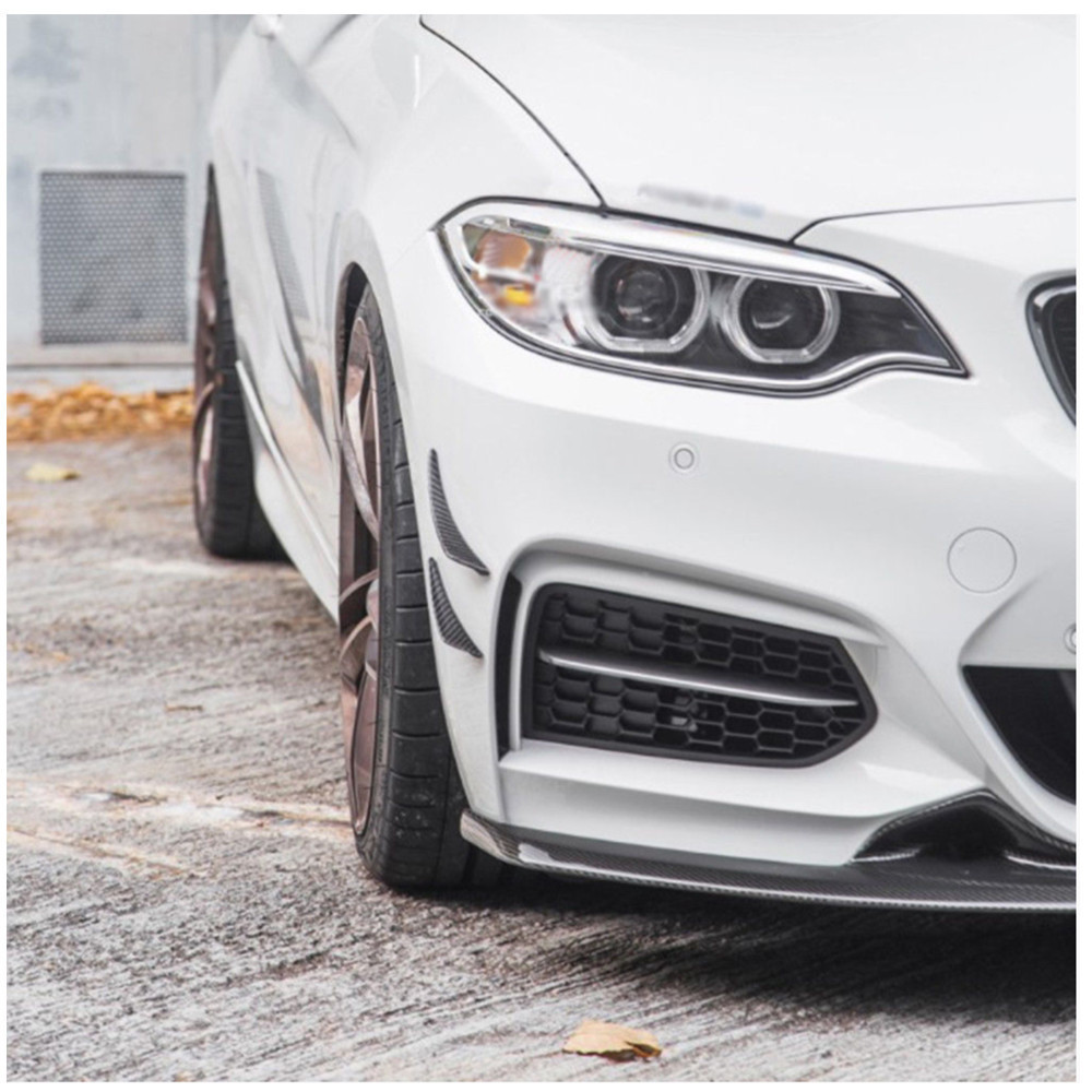 Universal Fit Front Bumper Lip Splitter Fins Body Spoiler Canards Valence Chin Car Tuning for BMW E46 F30 VW GOLF 4 5 6 7 in Bumpers from Automobiles Motorcycles