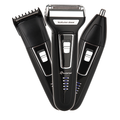3in1 Kit Electric Shaver Beard Shaving Machine For Men Rechargeable Electric Razor Facial Cleaning Shaver Foil Electronic Body
