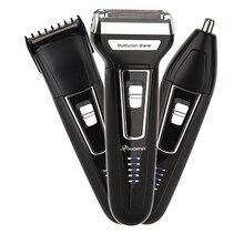 3in1 ערכת חשמלי מכונת גילוח זקן גילוח מכונת לגברים נטענות פנים ניקוי מכונת גילוח רדיד אלקטרוני גוף