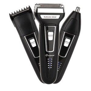 Image 1 - Kit de Afeitadora eléctrica 3 en 1 para hombre máquina de afeitar para Barba, maquinilla de afeitar eléctrica recargable para limpieza facial, afeitadora de lámina para Cuerpo Electrónico