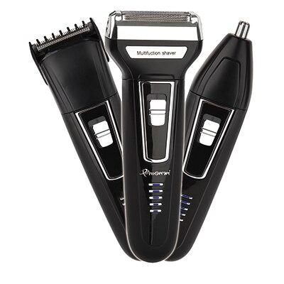 Kit de Afeitadora eléctrica 3 en 1 para hombre máquina de afeitar para Barba, maquinilla de afeitar eléctrica recargable para limpieza facial, afeitadora de lámina para Cuerpo Electrónico