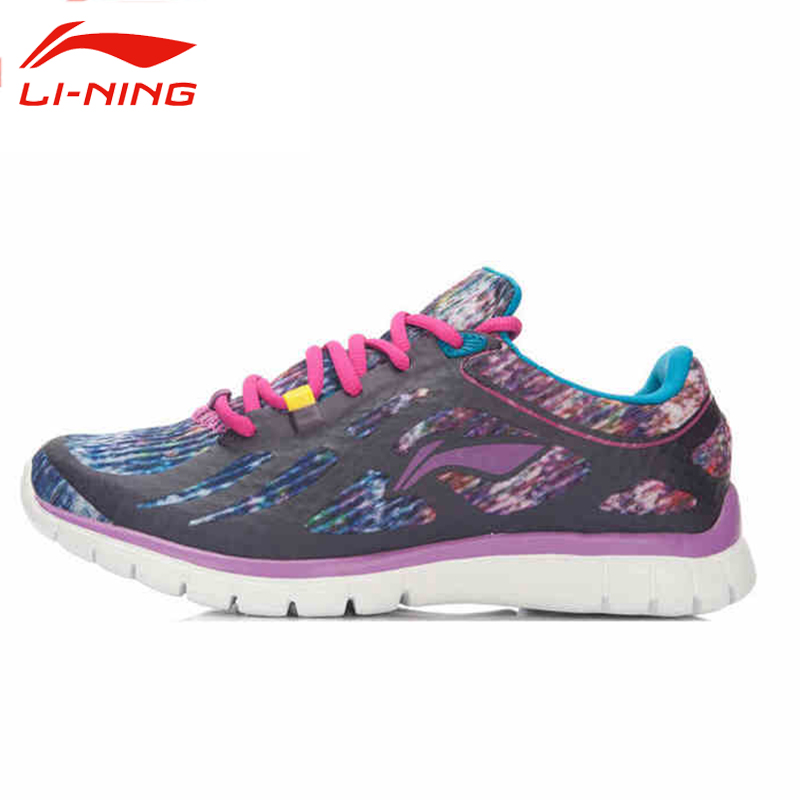 ФОТО Li-Ning Women's Lace-Up Training Shoes Li Ning Autumn Breathable Damping Athletic Sneakers AFPL008