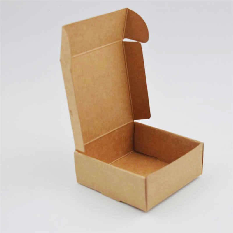 50PCS/lot Small Kraft Paper Carton box, small cardboard paper packaging box, Craft Gift Boxes Handmade Soap Jewelry box 50 Sizes