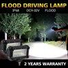 CO LIGHT Led Work Light Bar 5 Inch 72W 12v 24v Offroad Led Bar Flood For