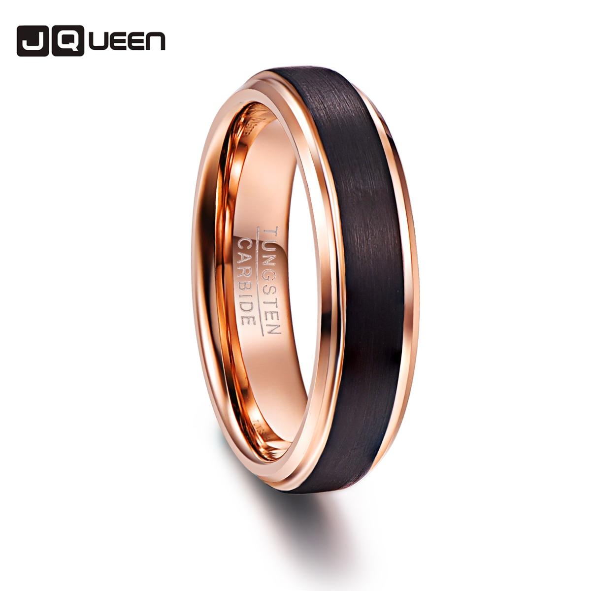 Черный Цвет обещание группа Для мужчин Кольца 100% Вольфрам карбида Обручальные кольца разного размера anillos Para Hombres pierscienie