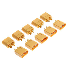 10 Pairs XT60 Plugs Bullet Replacements Yellow Male/Female Connectors Plugs For RC Battery High Quality Hot sale недорого