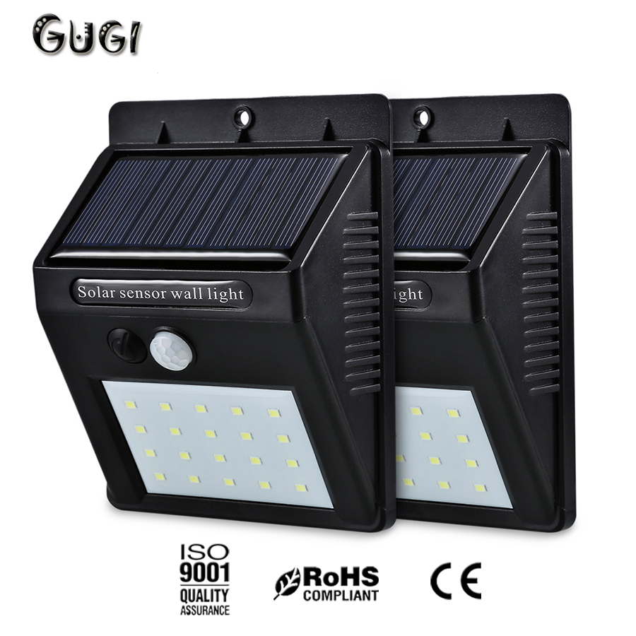 Solar Panel Powered LED PIR Motion Sensor Lamp Night Light Waterproof Decor MINI LED Solar Wall Lamp Energy Saving Yard Garden mpow 4pcs mini 10 led solar power lighting security waterproof outside wall panel lampion fence garden deck yard led night lamp