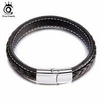 Fashion Real Leather Jewelry Men S Bracelet Punk Rock Wristband Bangle Leather Bracelet For Boyfriend GTB50
