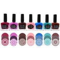 BORN PRETTY 15ml Nail Stamping Polish Sweet Color Nail Polish Lacquer Candy Colors Nail Stamp Printing