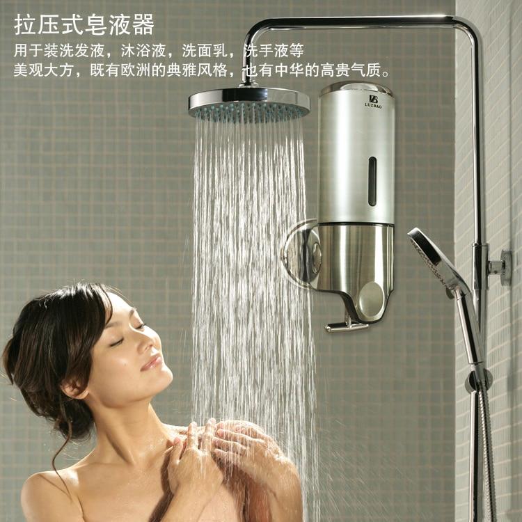 stainless steel single head soap dispenser shampoo shower gel hand sanitizer soap dispenserin liquid soap dispensers from home improvement on
