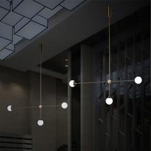 북유럽 3 조명 아트 스타일 거실 펜 던 트 조명 로프트 기하학적 식당 빛 커피 숍 빛 Led 전구